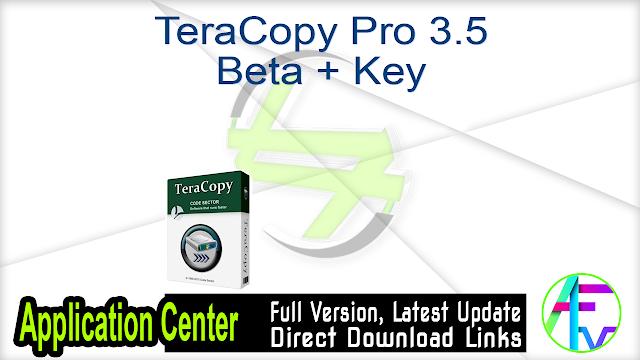 TeraCopy Pro Crack Registration Key